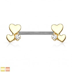 Nasenpiercing Nostril Ring offen 0,8mm gold